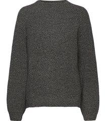 blank sweater stickad tröja grå hope