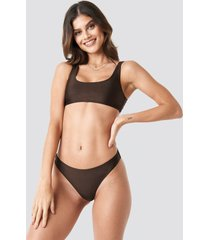 na-kd swimwear sporty bikini briefs - brown