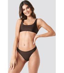 na-kd swimwear sporty bikini briefs - brown