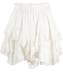 isabel marant ruffled shorts - white