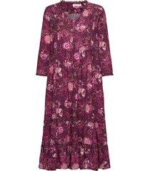 doreen dress knälång klänning lila odd molly