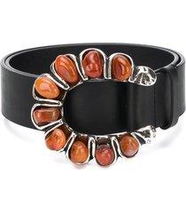 dorothee schumacher crystal-embellished buckled belt - black