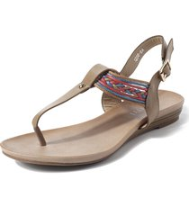women folkways casual t strap ankle buckle clip toe sandali piatti