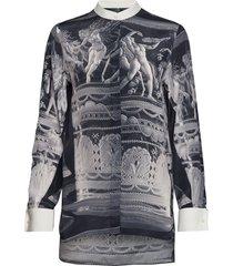 opolia p overhemd met lange mouwen grijs tiger of sweden