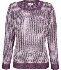 tröja med glansigt garn dress in lila::offwhite