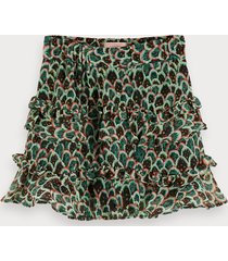 scotch & soda printed chiffon skirt