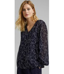 blusa estampada con top azul marino esprit