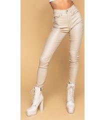 akira on duty vegan leather lace up skinny pants