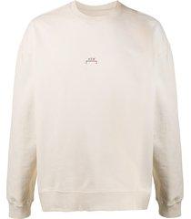a-cold-wall* crew neck logo printed sweatshirt - neutrals