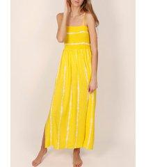 lange jurk admas gele stropdas en kleurstof zomer maxi-jurk adma's