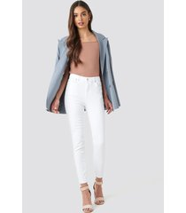 trendyol milla high waist jeans - white