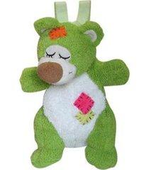 mochila infantil urso atoalhado - unissex