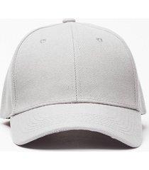 womens plain baseball cap - grey