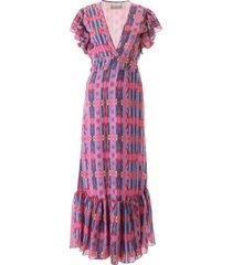 jessie western navajo print long dress