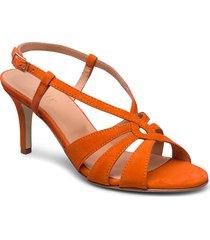 dance sandal heelstring sandal med klack orange apair