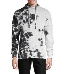 x ray men's printed regular-fit hoodie - white black - size m