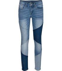 jeans skinny cropped tricolori (blu) - rainbow