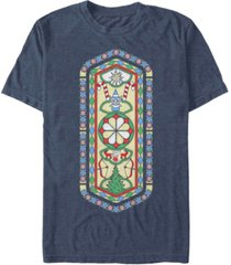 men's christmas chronicles 2 stained glass short sleeve t-shirt