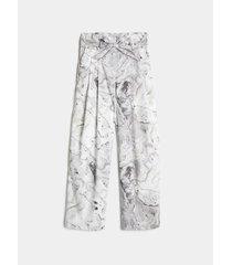 pantalón ancho fluido marmolado