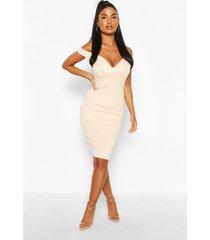 petite off the shoulder dress, blush