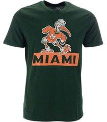 '47 brand miami hurricanes men's qualifier super rival t-shirt