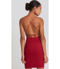 na-kd party open back jersey dress - red