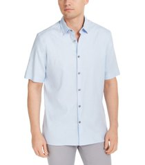 alfani men's solid linen blend shirt, created for macy's