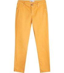 pantalón mujer dril color amarillo, talla 8