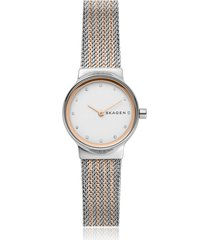 skagen designer women's watches, freja stainless steel women's watch