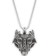 jean claude men's viking wolf pendant necklace