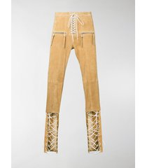 unravel project tie front trousers