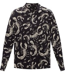 'skorpio' patterned shirt