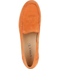 loafers med kilklack caprice orange
