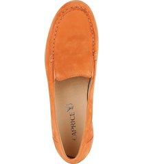 loafers med kilklack caprice orange