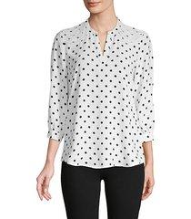 embellished polka dot blouse