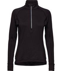 w rotation 1/4 zip t-shirts & tops long-sleeved zwart puma golf