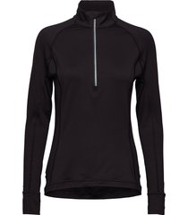 w rotation 1/4 zip t-shirts & tops long-sleeved zwart puma golf