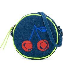 bonpoint bolsa tiracolo jeans - azul