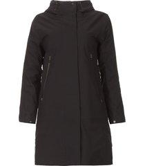 parka met uitneembare binnenjas liner  zwart