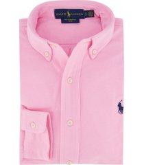 overhemd ralph lauren roze mesh