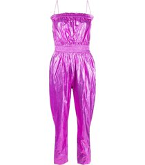 isabel marant metallic-effect jumpsuit - pink