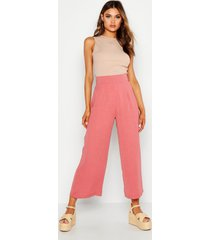 geweven wide leg culottes, rose