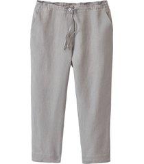 lichte 7/8-broek van linnen, zilvergrijs 50