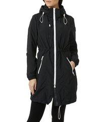 pajar women's packable hooded anorak - black - size xl