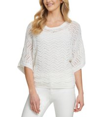 dkny patterned dolman-sleeve top
