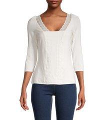 bailey 44 women's celai lace-trim top - cream - size xs