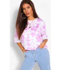 tie dye oversized t shirt, lilac