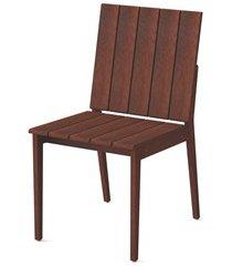 cadeira sem braços em madeira 85x44,9x56,7cm mogno