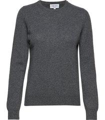 basic sweater gebreide trui grijs davida cashmere