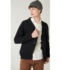 cardigan negro prototype wool